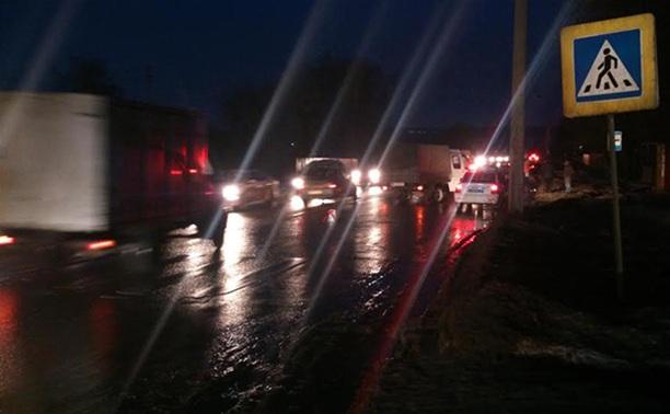 В Щекино девушка сбила двух пешеходов и скрылась с места аварии