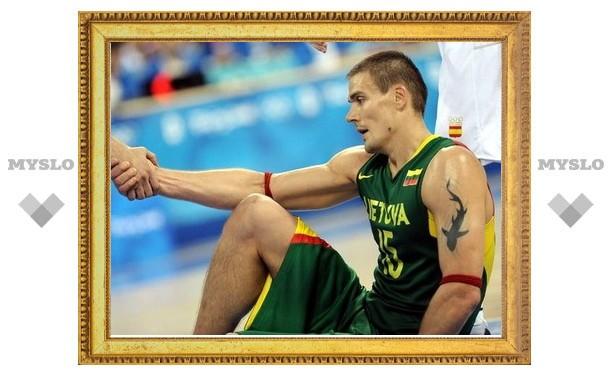 Капитан баскетбольной сборной Литвы пропустит Олимпиаду в Лондоне