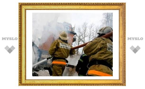 Тульские пожарные помогают Рязани