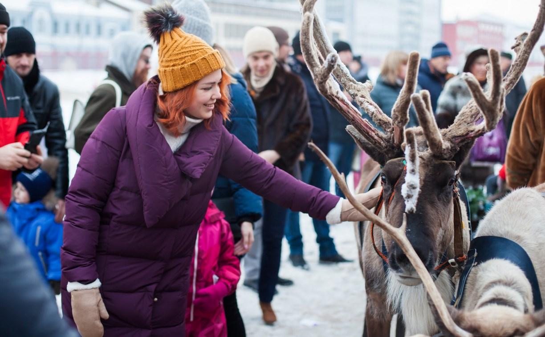 Северное шоу на Казанской набережной: экскурсия в ярангу, шоу шамана и катание на оленях