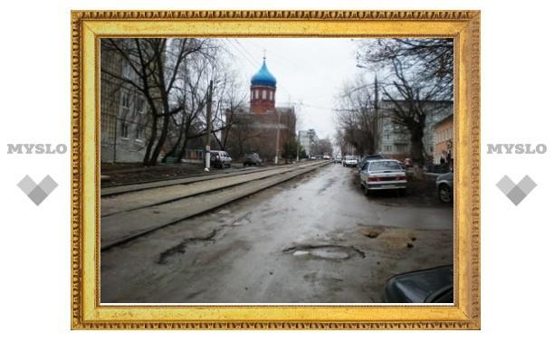 На одной из улиц в Туле всегда приходится ехать по встречке
