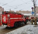 К зданию SK Royal в центре Тулы прибыли 5 пожарных расчетов и автолестница