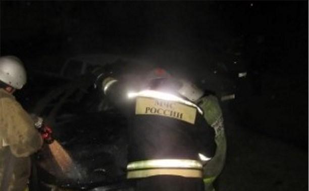 В Богородицке ночью сгорела «Тойота Камри»