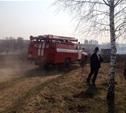 В Ленинском районе из-за поджогов травы сгорела дача