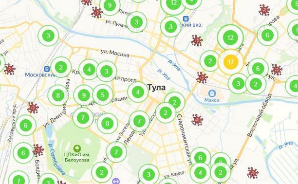 По каким адресам в Туле и области проживают заболевшие коронавирусом: интерактивная карта