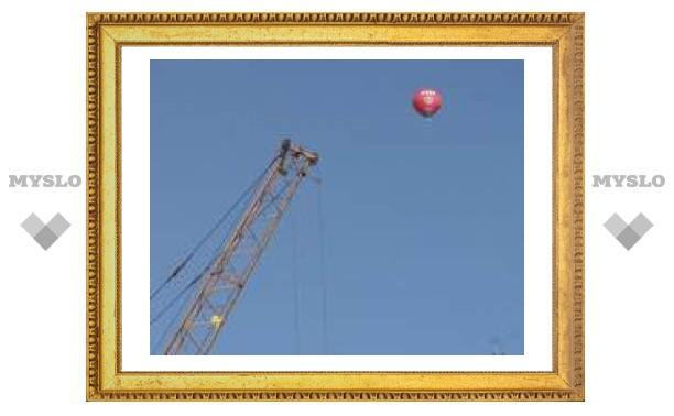 Над Тулой с шести утра полетели воздушные шары