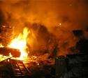 В Заокском районе сгорел блок сараев