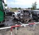 В Новомосковске грузовик протаранил пять машин: видео
