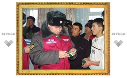 В Щекине задержаны 42 иностранца
