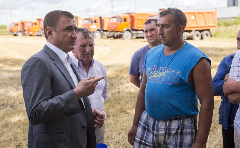 Алексей Дюмин – комбайнерам: «Вы наши кормильцы во всех смыслах слова»