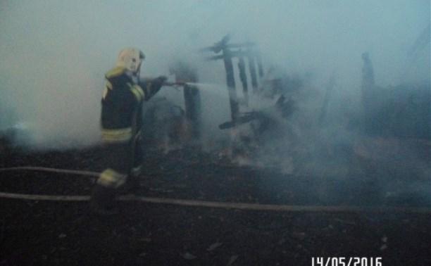 На пожаре в Куркинском районе погиб один человек