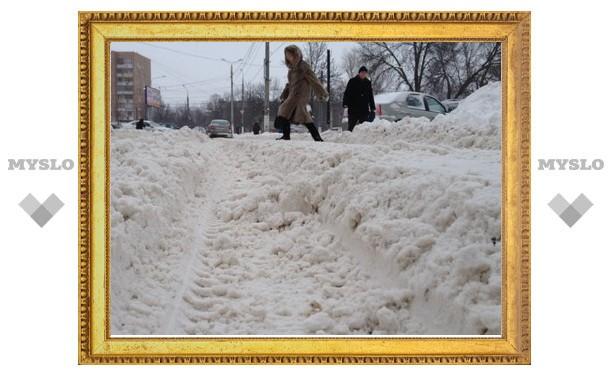 За минувшие сутки в Туле вывезено 1 352 кубометра снега