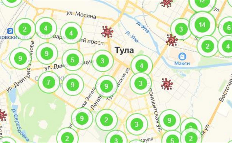 По каким адресам в Туле и области проживают заболевшие коронавирусом: обновленная карта