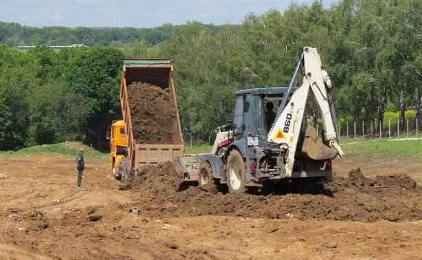 В Туле продолжается благоустройство территории бывшей Судаковской свалки