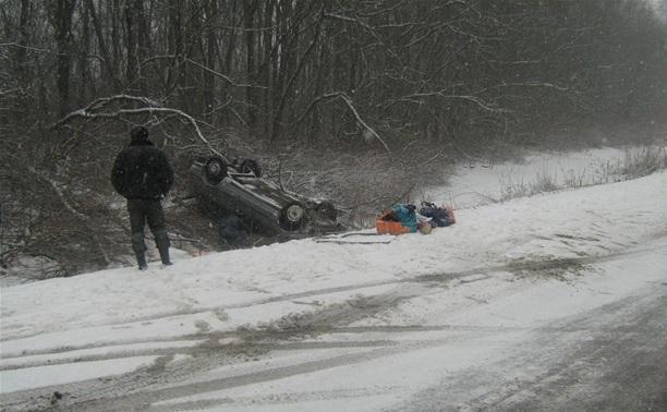 20 марта под Тулой перевернулись два автомобиля