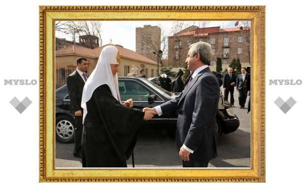 Патриарх Кирилл встретился с президентом Армении
