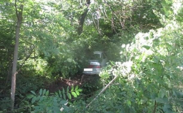 На Щекинском шоссе водитель ВАЗа вылетел в кювет