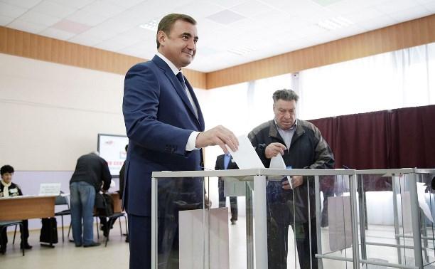 Алексей Дюмин принял участие в выборах