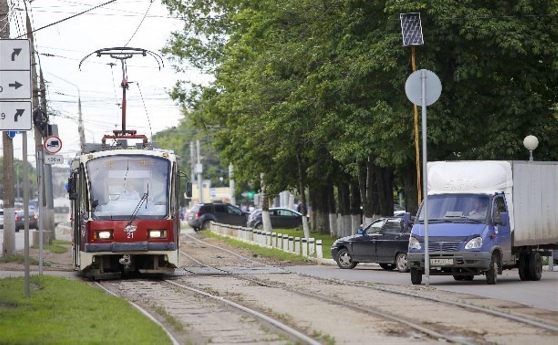 В Туле на улице Кирова на месяц ограничат движение трамваев