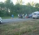 В Чернском районе столкнулись три автомобиля