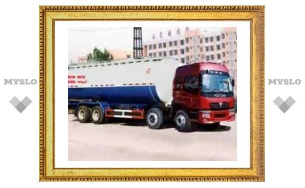 В Новомосковске задержан грузовик со спиртом