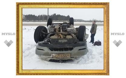 На трассе «Крым» перевернулся Lexus