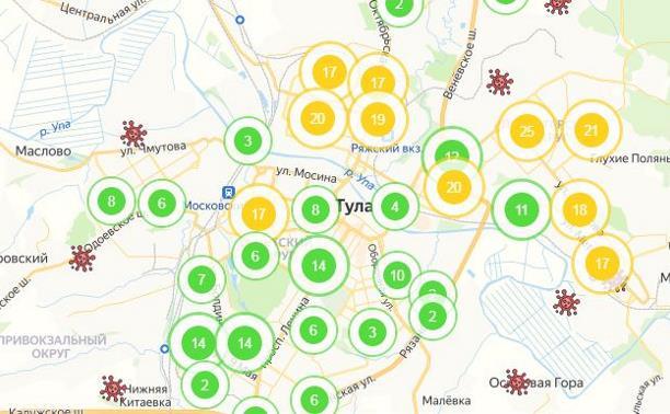 Адреса коронавируса в Тульской области: интерактивная карта