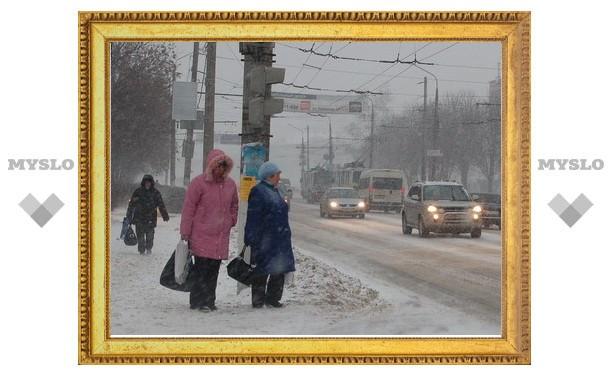 Снег в Туле осложнил ситуацию на дорогах