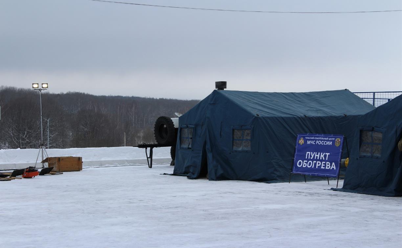 Из-за морозов в Тульской области развернуты мобильные пункты обогрева для водителей: карта