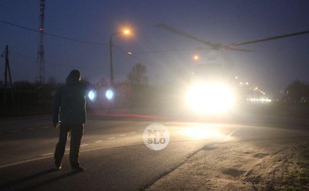 В Тульской области трассу перекрыли из-за посадки вертолета