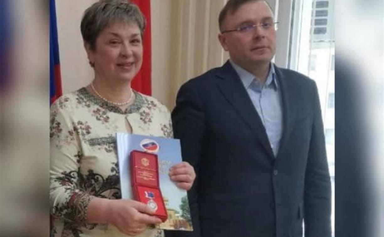 Сотрудник Тульской областной специальной библиотеки для слепых Марина Лунева удостоена медали ЦИК России