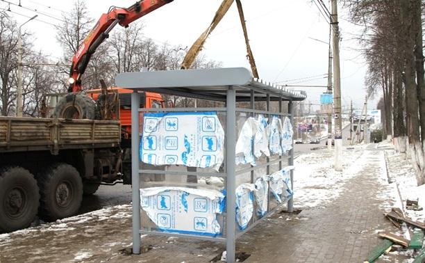На Московском шоссе начали устанавливать новые остановки