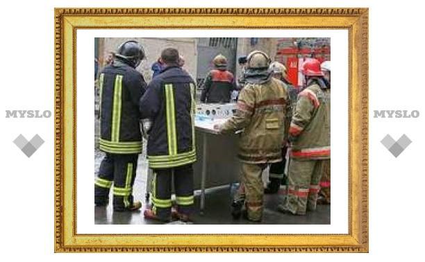 Тульские спасатели устроили учения коммунальщикам