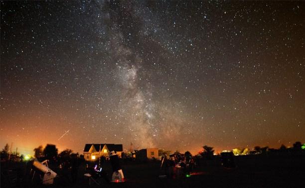 Московские астрономы наблюдали звездопад на Куликовом поле