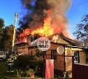 На ул. Баженова в Туле крупный пожар уничтожил жилой дом