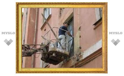 В центре Тулы обрушился балкон