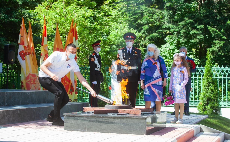 В Советске открыли обновленный мемориал «Скорбящий воин и женщина»