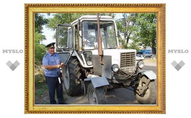 В Тульской области угнали трактор