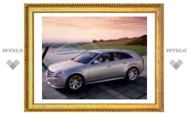 Опубликованы первые официальные фотографии нового универсала Cadillac CTS