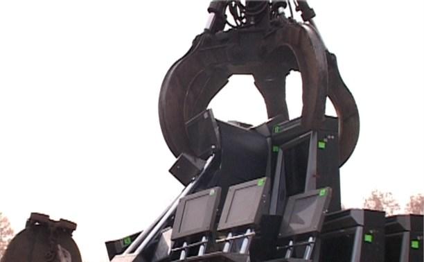 В Алексине полицейские уничтожили 23 нелегальных игровых автомата