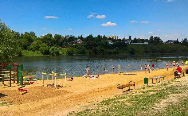 На средства меценатов благоустроили пляж на реке Веневка