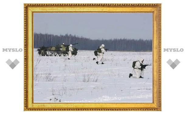 Тульские десантники проводят первые в 2012 году учения