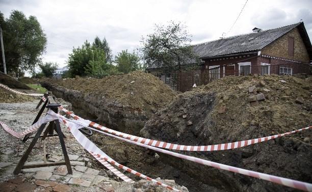 В Болохово улица оказалась отрезана от мира