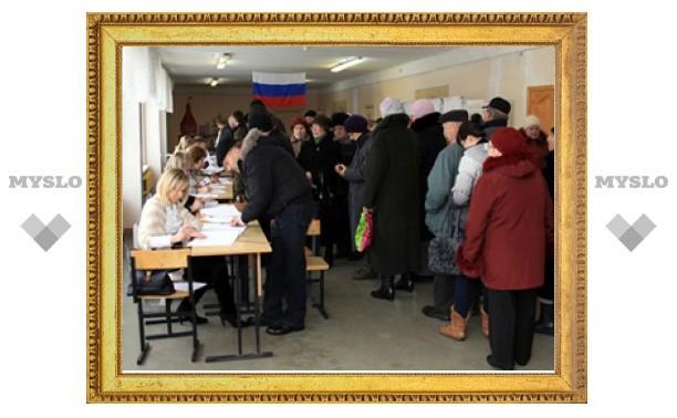 К 12:00 в Тульской области явка на выборы - более 20%