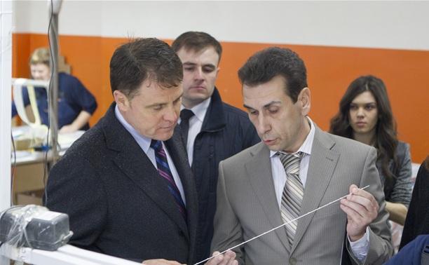 Губернатор посетил строящийся в Богородицке ФОК
