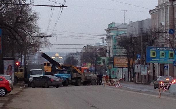 В Туле перекрыли проспект Ленина
