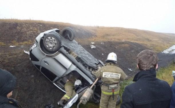 В Богородицком районе водитель «Мерседеса» уснул за рулем и съехал в кювет