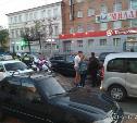 В Туле на улице Октябрьской мотоциклист попал в тройное ДТП