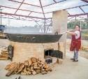 На набережной Упы начали жарить картошку