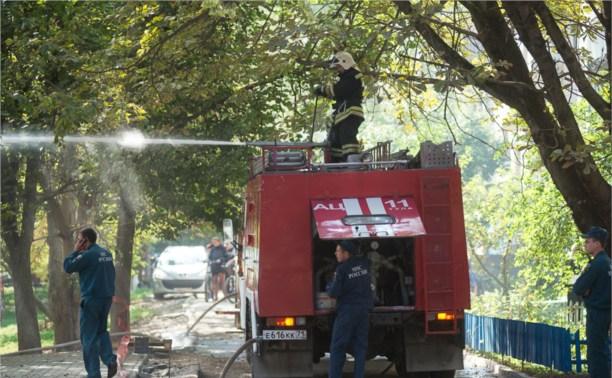 На стройке на улице Фрунзе сгорели вагончики рабочих
